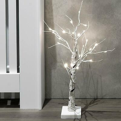 Christmas Birch Tree White Pre Lit Twig Light Decoration Indoor Outdoor Party UK • 12.95£
