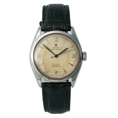 $ CDN5053.96 • Buy Rolex Bubble Back 6084 Vintage Automatic Men's Watch Tropical Dial Red SS 34mm