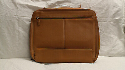 Levenger Laptop Bag Briefcase Brown Leather - Great Condition! • 82.99£