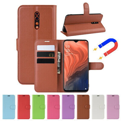 AU8.70 • Buy For Oppo Reno Z 10X Zoom R11s Wallet Case Leather Card Holder Flip Stand Cover