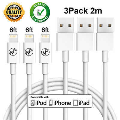 AU13.95 • Buy 2M Charging Charger Cable For IPhone 8 7 6 6S X XS Max XR 11 IPad 5 6 Mini Air 2