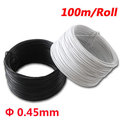 £8.29 • Buy 100m/Roll Wire Dia Φ0.45mm Plastic Coated Cable Ties Flat Twist Ties White Black