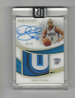 2018-19 Immaculate Derek Fisher Gold 3 Color Acetate Patch/Auto #06/10-JERSEY #! • 149.99$