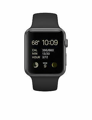 $ CDN473.01 • Buy Apple Watch Series 1 Sport 42mm Space Gray Aluminum Case With Black Sport Band