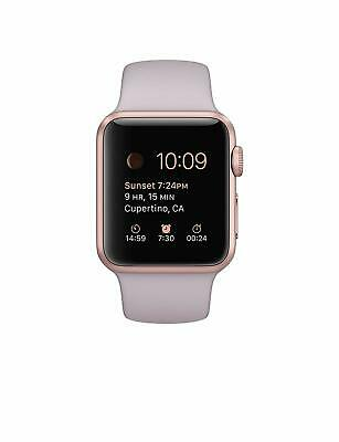 $ CDN566.43 • Buy Apple 38mm Sport Smart Watch - Rose Gold Aluminum Case With Pink Band