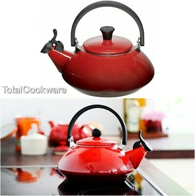 Le Creuset Zen Stove-Top Kettle With Whistle,Enamelled Steel, 1.5L Cerise Red • 89.95£