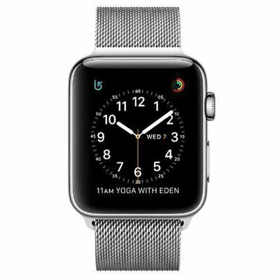 $ CDN906.73 • Buy Apple Watch Series 2 42mm Stainless Steel Case Silver Milanese Loop -...