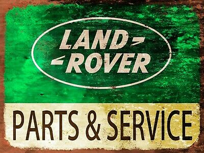 Land Rover Parts & Services, Retro Replica Vintage Style Metal Sign/plaque Gift • 5.15£