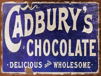 £4.58 • Buy Cadbury's Chocolates, Retro Replica Vintage Style Metal Sign/plaque Gift