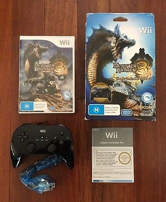 AU110 • Buy Monster Hunter 3 Tri Classic Controller Pro Pack - Official Nintendo Wii