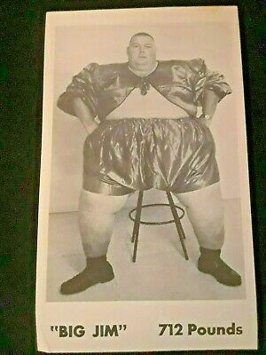 $ CDN12.64 • Buy Circus Side Show Fat Man Big Jim Work For Ward Hall In The 80's 5.5'' By 3''