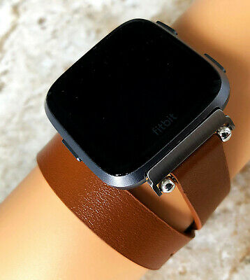 $ CDN38.14 • Buy Brown Double Wrap Soft Leather Band Strap For Fitbit Versa 2 & Versa Smartwatch