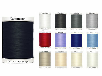 Gutermann Sew All Thread 1000m Reel - Sewing - All 13 Colours Available • 9.95£