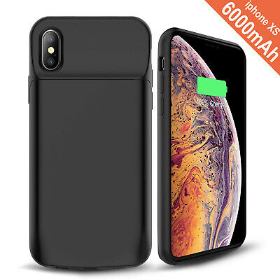 AU50.34 • Buy IPhone X/XS Battery Case, 6000mAh Rechargeable Charging Case For IPhone - Black