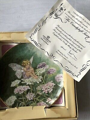 Villeroy Boch Heinrich Porcelain Candytuft Fairy China Plate With COA • 8£
