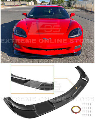 $169.99 • Buy For 05-13 Corvette C6 BASE | ZR1 Extended Style BLACK Front Lower Lip Splitter