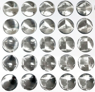 £5.99 • Buy 25x Mirror Prism Gel Domed Stickers 25mm 1 Inch Self Adhesive Bottle Caps