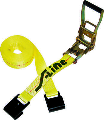 $19.95 • Buy S-Line 557 Ratchet Strap Tie Down Long Wide Handle Flat Hooks 3,333lbs Load