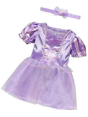 £17.99 • Buy BABY Girls Disney Rapunzel  Party Costume Fancy Dress Outfit 6-24  Months