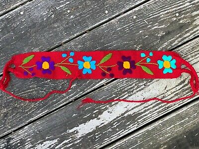 $15.90 • Buy Baby Toddler Child Faja Mexican Belt Embroidered Woven Cotton Flowers Red X3