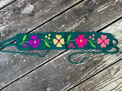 $15.90 • Buy Baby Toddler Child Faja Mexican Belt Embroidered Cotton Flowers Blue-Green X7