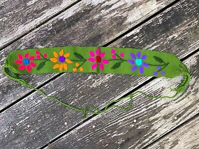$15.90 • Buy Baby Toddler Child Faja Mexican Belt Embroidered Cotton Flowers Blue-Green D2