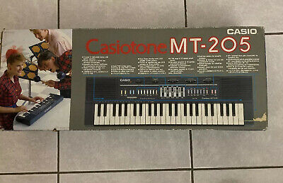 $49.99 • Buy Casio Casiotone MT-205 Keyboard Electronic 80s In Box Tested Working Vintage