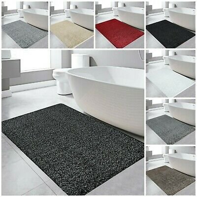 Non Slip Bath Mat Soft Thick Large Bathroom Rug Water Absorbent Pedestal Mats • 10.99£