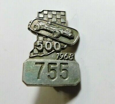 $49 • Buy Indy 500 1968 Silver Pit Badge