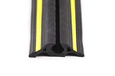 £60 • Buy Rubber Cable Protector With Yellow Safety Stripes 6m Rolls