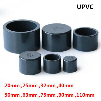 20mm-110mm PVC UPVC Water Supply Pipe Plain End Caps Plugging Cap Thick Fittings • 3.39£