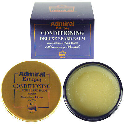 Deluxe Conditioning Beard Balm With Oils & Wax Admiral Male Grooming Kit 50ml • 10.99£