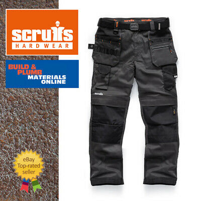 Scruffs Pro Flex Trousers With Holster Pockets GRAPHITE Trade 28 -40  FULL RANGE • 49.25£