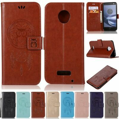 AU6.90 • Buy For Motorola Moto G7 G6 G5 E6 Plus G6 Play Owl Wallet Leather Flip Case Cover