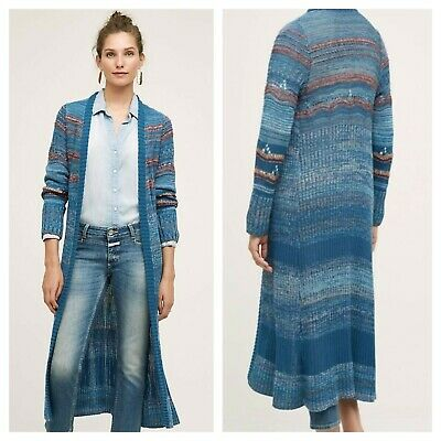 $ CDN52.16 • Buy Anthropologie Sz XS Knitted & Knotted Ibera Longline Open Front Duster Cardigan