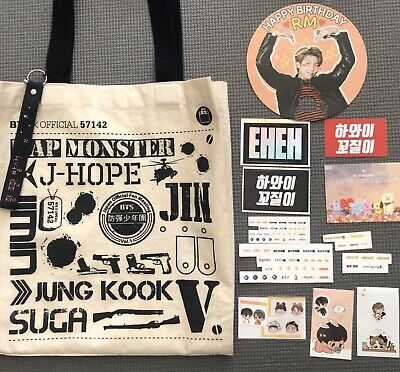 $32.99 • Buy BTS Official 57142 Japan Fan Meeting Vol.1 Tote Bag +sticker+keychain Rare(Used)