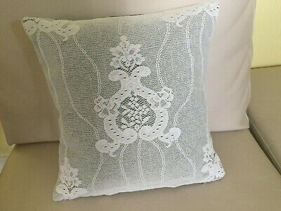 Hand Made Cushion Covers With Inner Cushion White - Lace - 13  X 13  • 10£