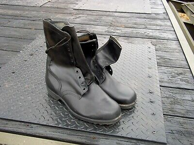 $45 • Buy  Size  14 Xw Extra Wide Leather  Black  Boots  Military  Surplus  Us Army
