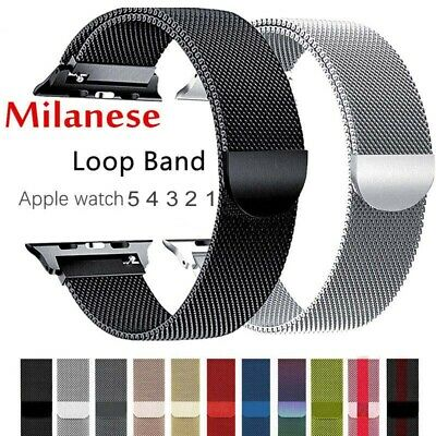 AU6.83 • Buy Milanese Loop Magnetic For Apple Watch Strap 44/42/40/38mm Iwatch Band 5/4/3/2/1