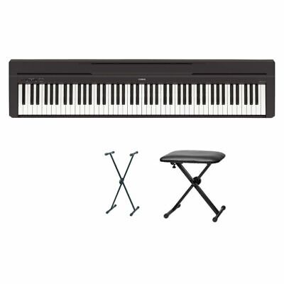 AU917.84 • Buy Yamaha P-45 Digital Piano Bundle VI With X Stand And Bank