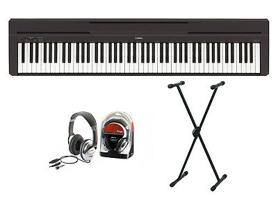 AU882.47 • Buy Yamaha P-45 Digital Piano Bundle V With X Stand And Headphones