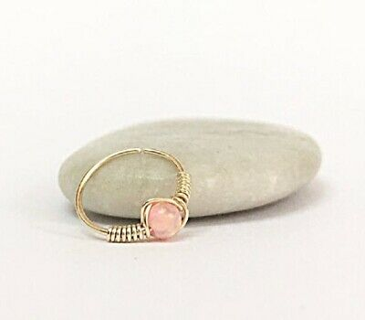 AU36.52 • Buy 9K Gold Opal Helix Earring Cartilage Jewelry Nose Hoop Septum Ring Gold Daith