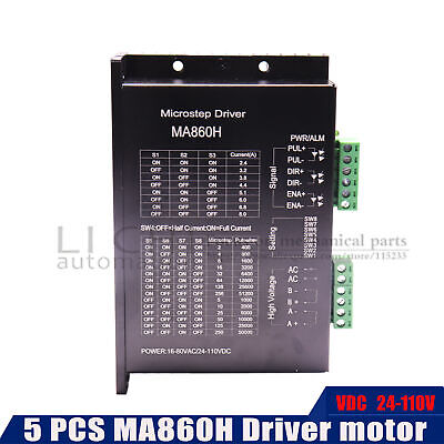 $224.66 • Buy MA860H 2phase 2.4-7.2A Stepper Motor Driver 5PCS  24-110VDC Subdivision Replace