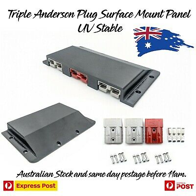 AU46.97 • Buy Triple Anderson Plug Surface Mount Panel Kit External Suit 50 Amp Inc Bolts