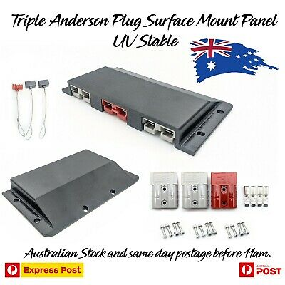 AU54.97 • Buy Triple Twin Anderson Plug Surface Mount Panel Kit External Inc Bolts, Dust Caps