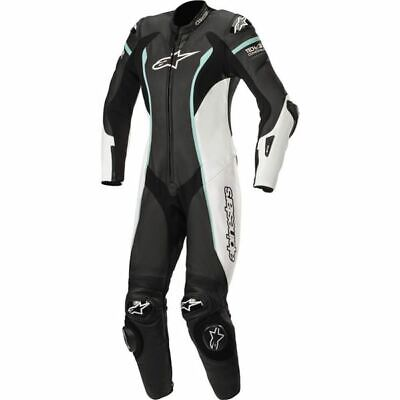$999.95 • Buy Alpinestars Stella Missile  1-PC Lthr Motorcycle Suit - Blk/Wht/Teal, All Sizes