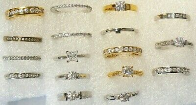 $ CDN34.99 • Buy Rings & Bands Lot Of 17 Sizes Between 5.75 & 7  New  #4882