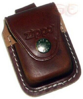 Zippo Lighter Leather Pouch With Snap Belt Loop In Brown LPLB Lifetime Warranty • 9.97$