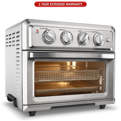View Details Cuisinart TOA-60 Convection Toaster Oven Air Fryer Silver + 1 Year Warranty • 119.99$