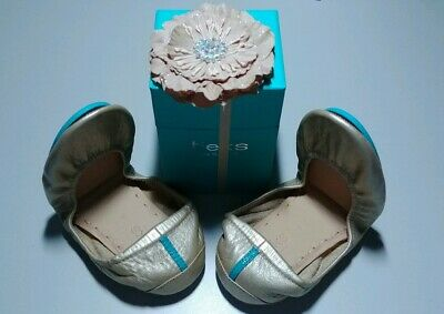$ CDN327.89 • Buy TIEKS METALLIC CHAMPAGNE Ballet Flats Shoes Size 8 NEW SOLD OUT Neutral Cream